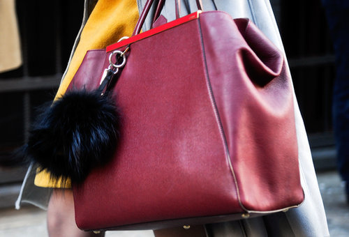 A Fendi charm made this a truly covetable carryall.