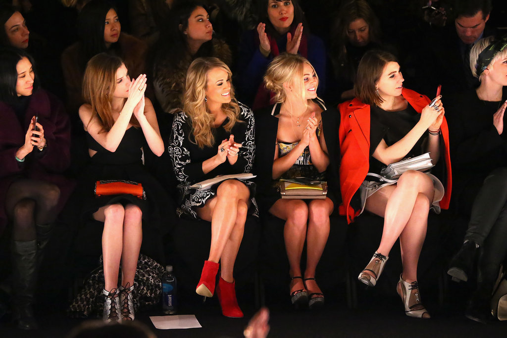 Stars lined up front row at the Rebecca Minkoff Fall 2014 presentation.