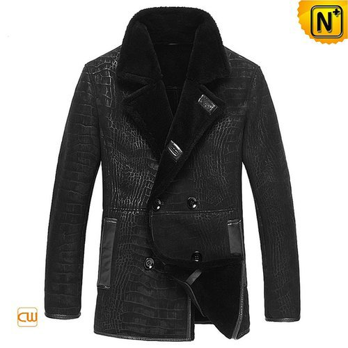 Sheepskin Coats Black for Men CW877055
