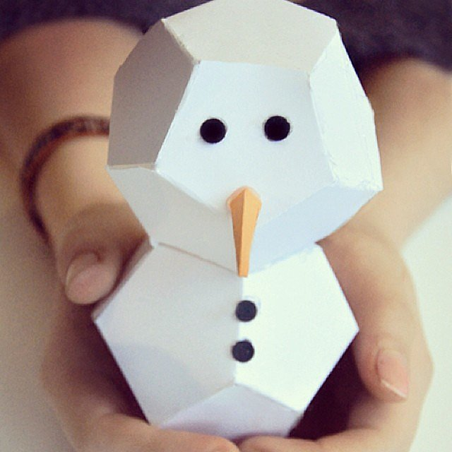Cut-and-Fold Snowmen