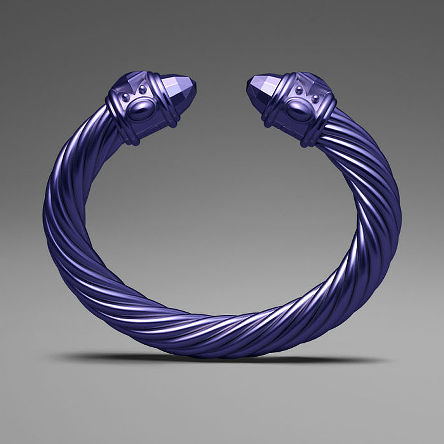 David Yurman Purple Aluminum Cable Bracelet