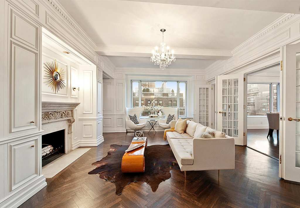 A coat of bright white paint gives wood molding a modern feel.  Source: Douglas Elliman Real Estate