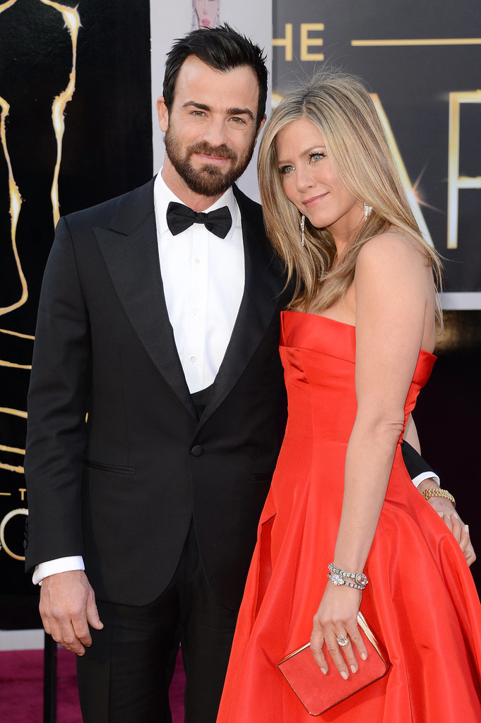 Jen and Justin were the picture of perfect love on the Oscars red carpet in February 2013.