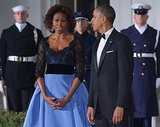 Michelle often chooses an American designer for such high-profile events.