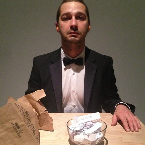 Shia LaBeouf's Performance Art Exhibit