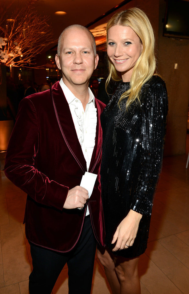 Gwyneth Paltrow cozied up to Ryan Murphy.