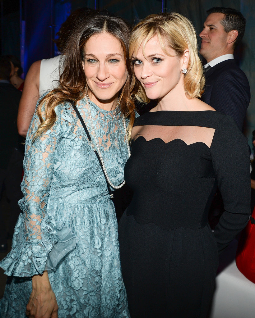Sarah Jessica Parker and Reese Witherspoon mingled together in NYC on Monday night at the American Songbook Gala.