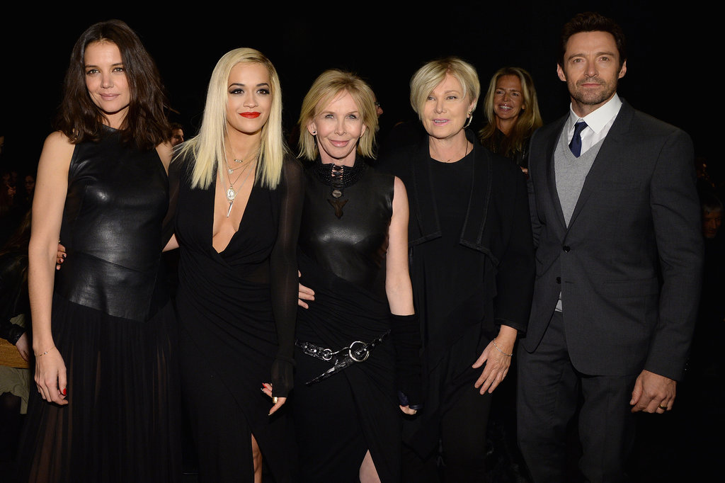 Katie Holmes, Rita Ora, and Hugh Jackman joined up for Donna Karan's show on Monday.