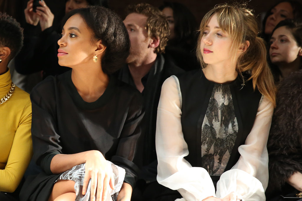 On Monday, Solange Knowles and Zoe Kazan sat front row at Honor.