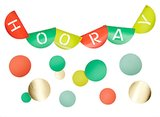 Hooray Banner ($5) and Removable Decal Large Confetti Dots ($10 for 12)