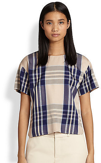 Steven Alan Plaid Top