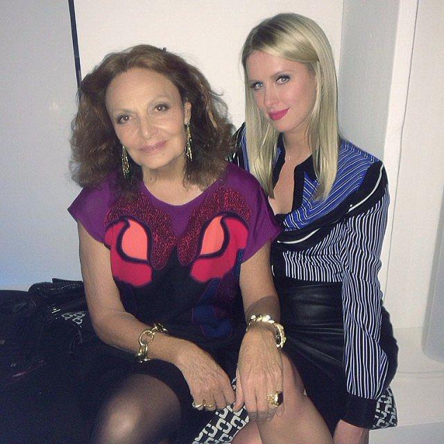Nicky Hilton partied with designer Diane von Furstenberg during Fashion Week in NYC. Source: Instagram user nickyhilton
