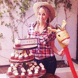 Lauren Conrad got done up in westernwear to celebrate her 28th-birthday hoedown. Source: Instagram user laurenconrad
