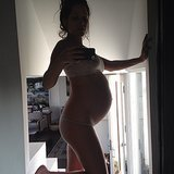 Jason Biggs's wife, Jenny Mollen, shared this 41-week snapshot of her pregnant belly. Source: Instagram user jennyandteets2