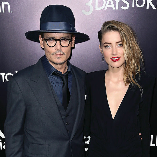 Johnny Depp Kissing Amber Heard at 3 Days to Kill Premiere