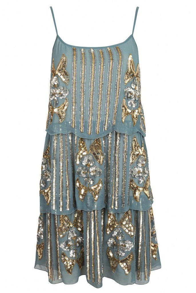 Frock and Frill blue tiered flapper dress (£75, originally ...