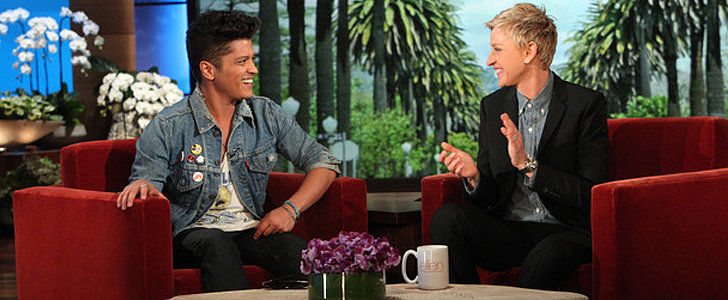 Just Try Not to Laugh Watching Ellen and Bruno Mars's Prank