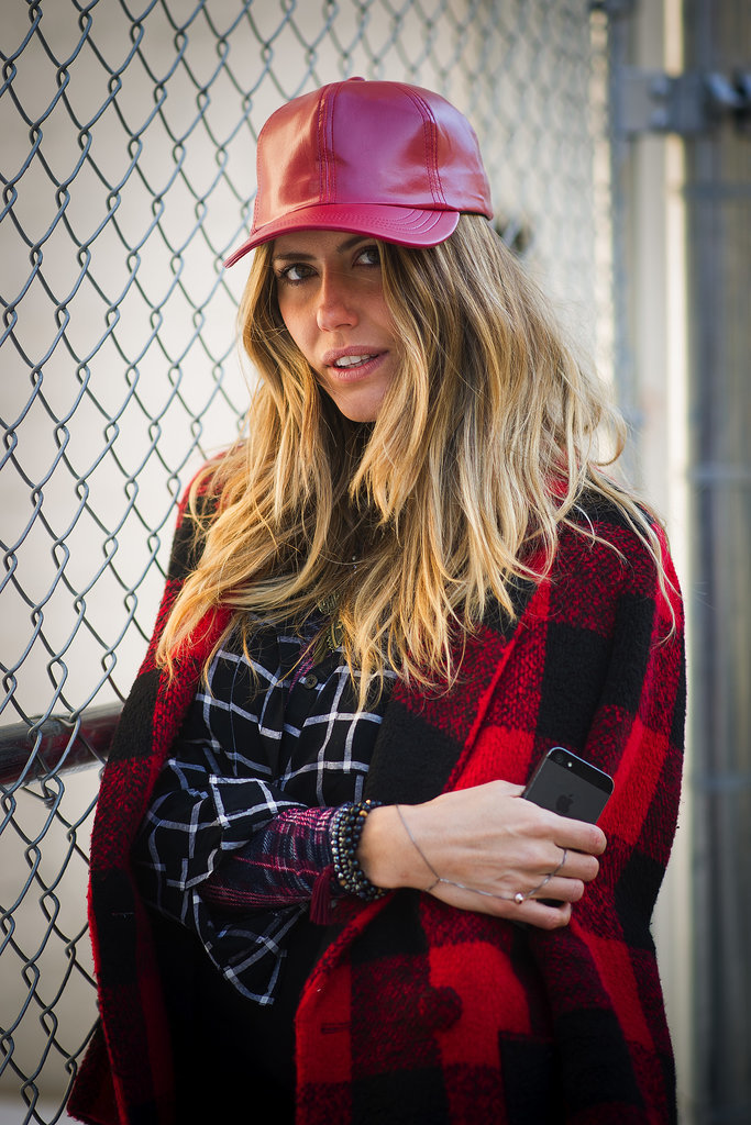 Playing it cool is easy when you add a baseball cap in leather.