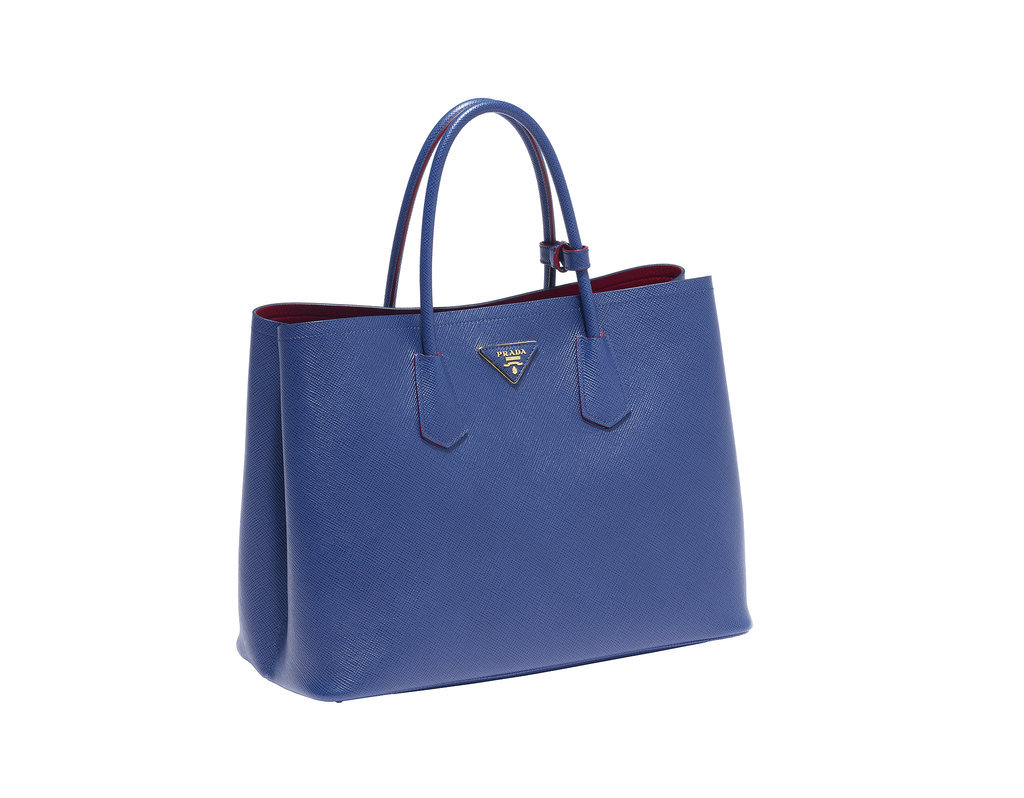Prada Double Bag in Bluette