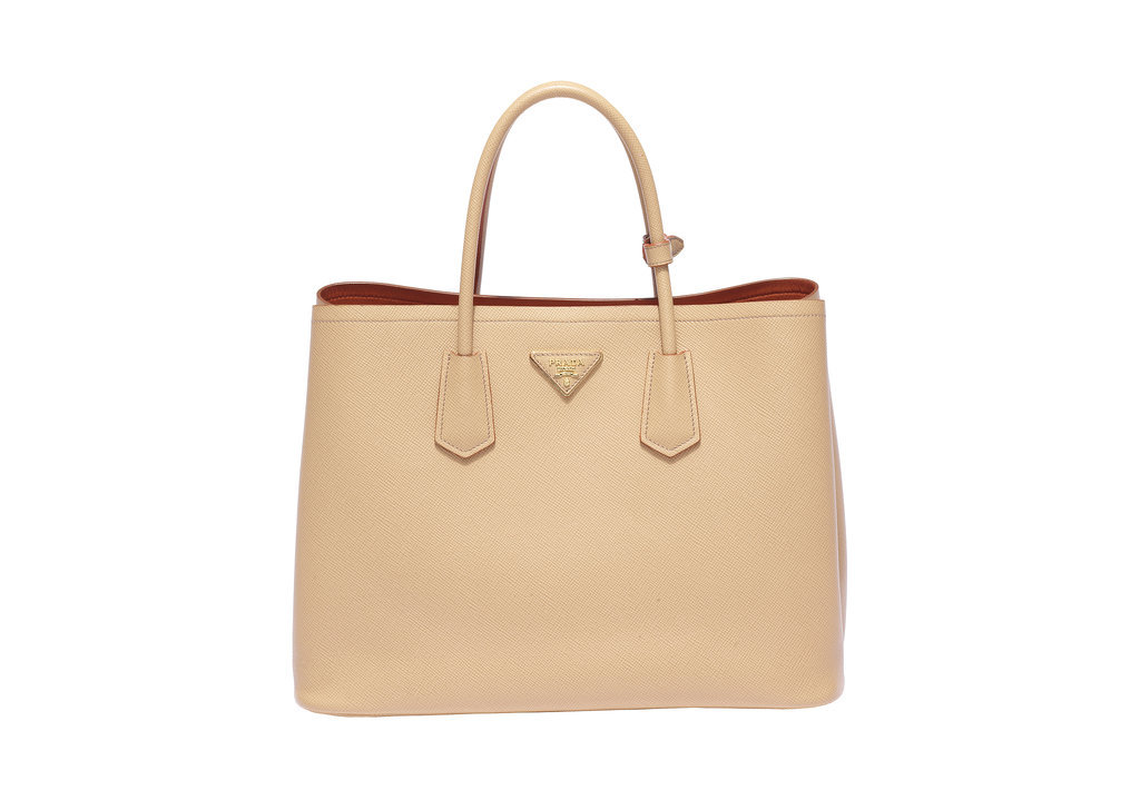 Prada Double Bag in Cuir Noisette