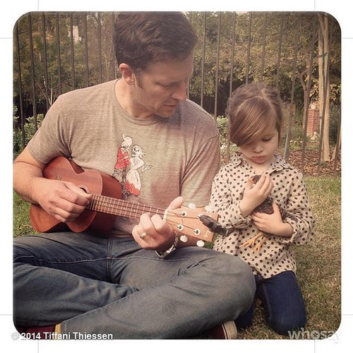 Harper Smith cozied up to a little duck and her dad on a relaxing Sunday afternoon. Source: Instagram user tathiessen