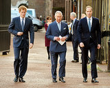 Prince Harry, Prince Charles, and Prince William attended a conference against illegal wildlife trade in London on Thursday.