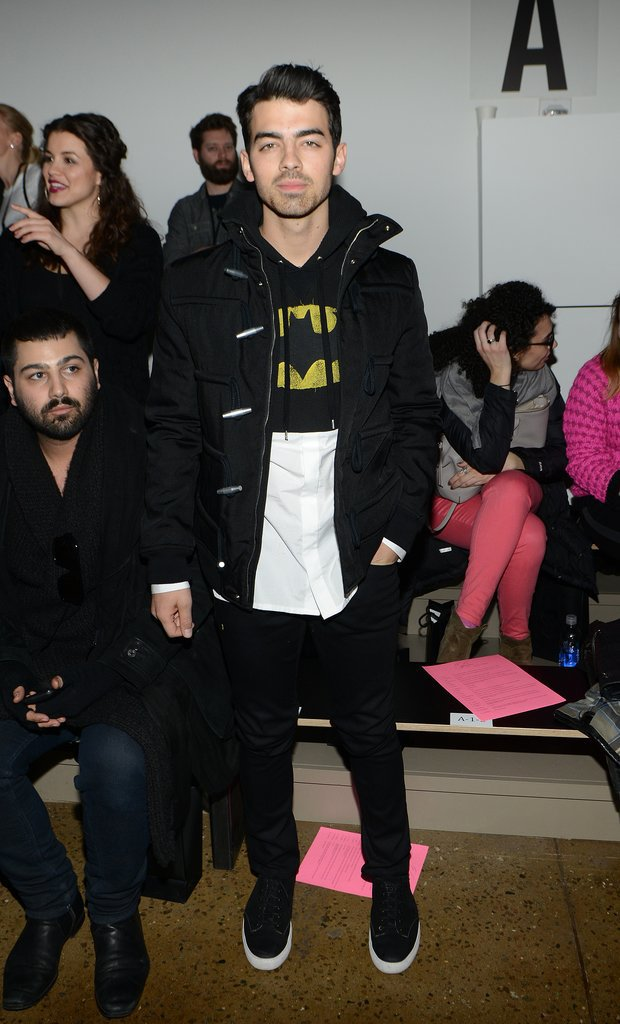 Joe Jonas channeled his inner superhero at The Blonds's show.