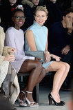 Lupita Nyong'o and Naomi Watts watched the Calvin Klein show together on Thursday.