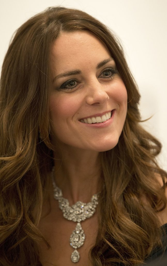 At the National Portrait Gallery gala, Kate stunned with a curly blowout.