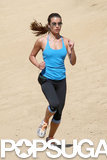 Lea Michele went for a Thursday run in Runyon Canyon in LA.