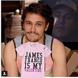 James Franco made a special card for his single fans. Source: Instagram user jamesfrancotv
