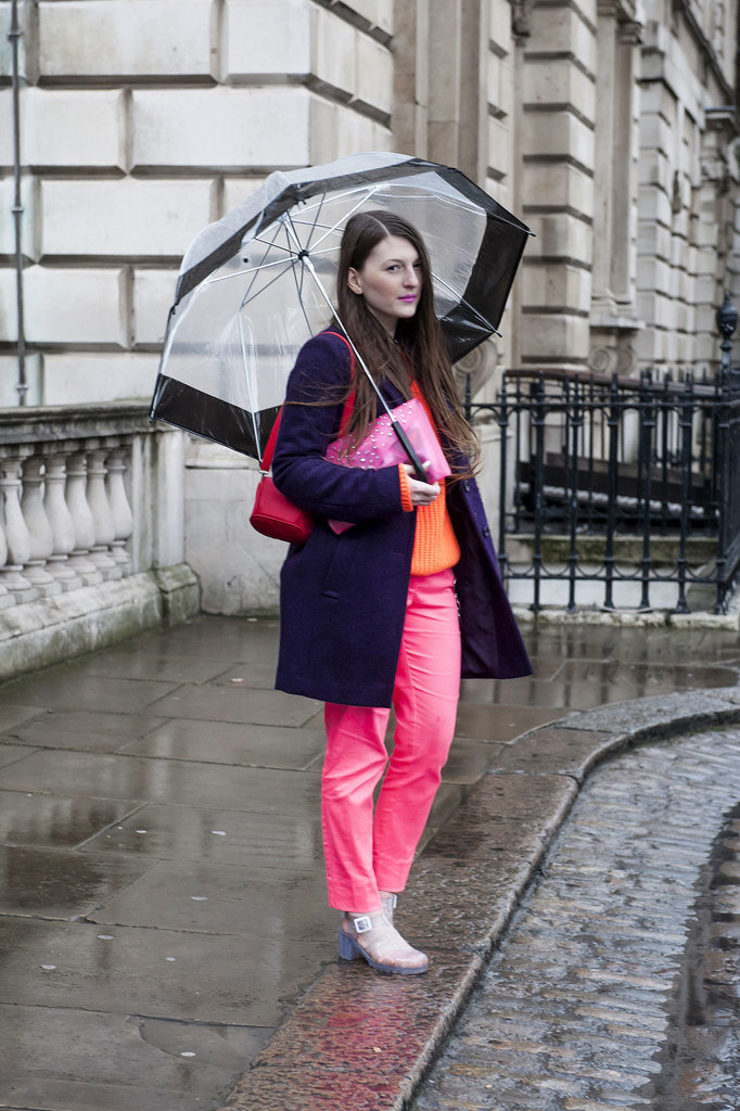 Bright shades of pink and orange add a little sunshine on a cold day.