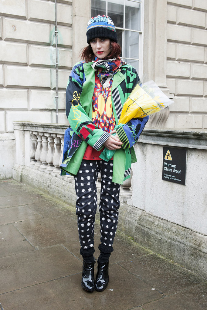 London's never short of print on print. This look takes it to the next level.