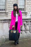 What could be better on Valentine's Day than a bright pink coat?