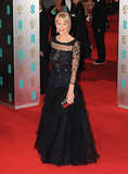 Helen Mirren at the 2014 BAFTA Awards.