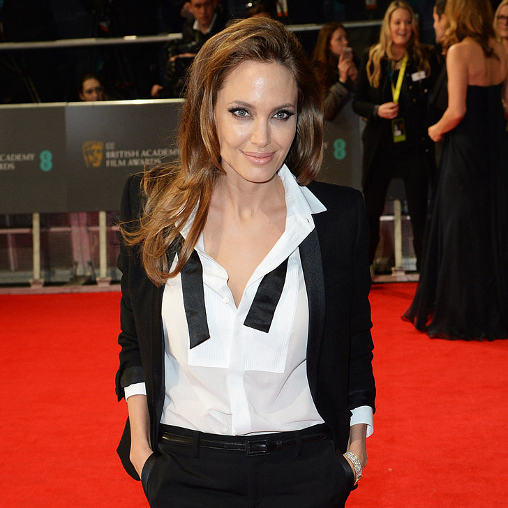 Angelina Jolie Hair and Makeup at the BAFTA Awards 2014