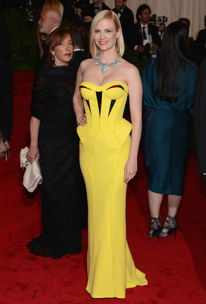 January Jones in Versace at the Met Gala