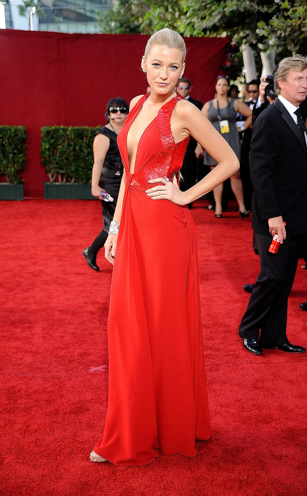 Blake Lively in Versace at the Emmys