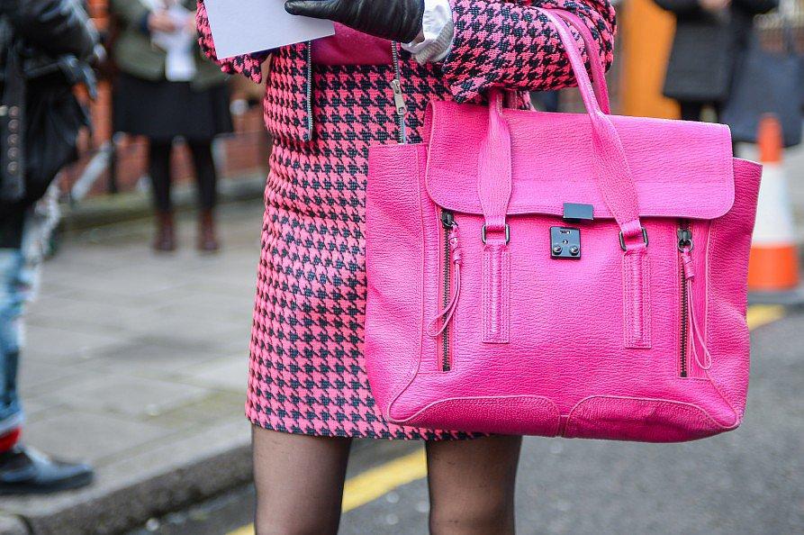 It doesn't get brighter than this bubblegum-pink Pashli. Source: Gorunway