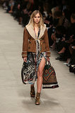 Suki Waterhouse modeled at the Burberry Prorsum show.
