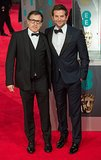 Bradley Cooper walked the red carpet at the 2014 BAFTAs with David O. Russell on Sunday.