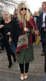 Suki Waterhouse Outside the Burberry Fall 2014 Show