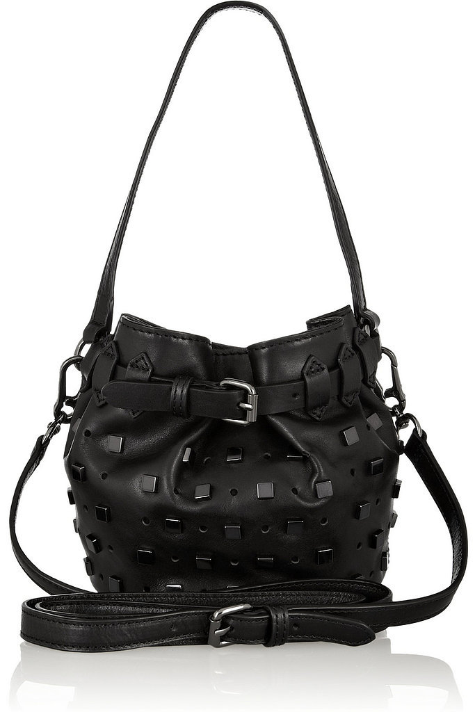 Karl Lagerfeld Black Studs Mini Bucket Bag