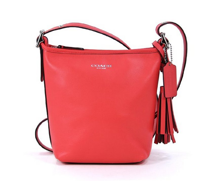 Coach Legacy Red Mini Duffle Bucket Bag