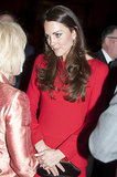 Kate opted for chestnut curls at the Dramatic Arts Reception at Buckingham Palace.