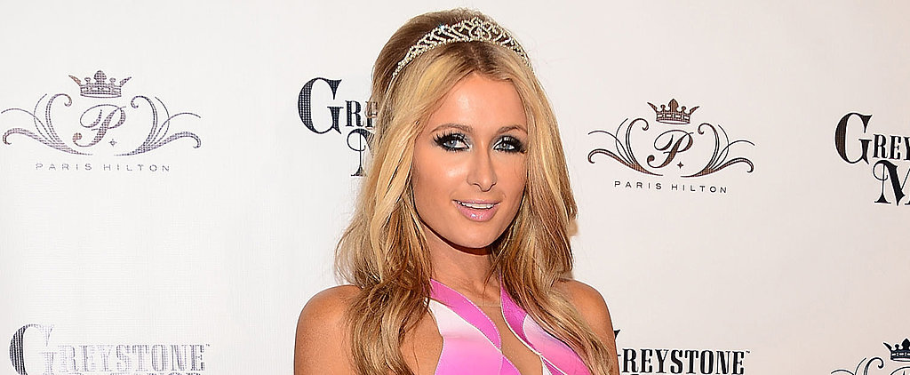 Paris Hilton Showed Lots of Leg at Her Birthday Party