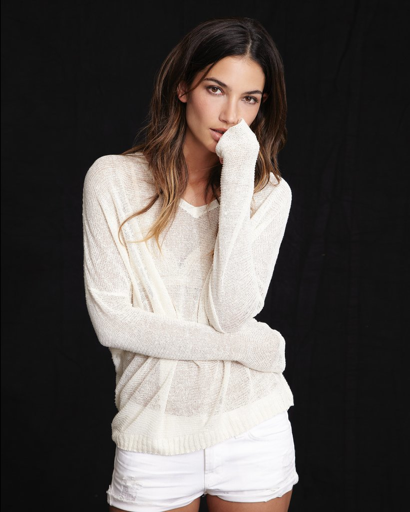 Lily Aldridge For Velvet Josie Silk Linen Sweater ($139) Source: Courtesy of Velvet