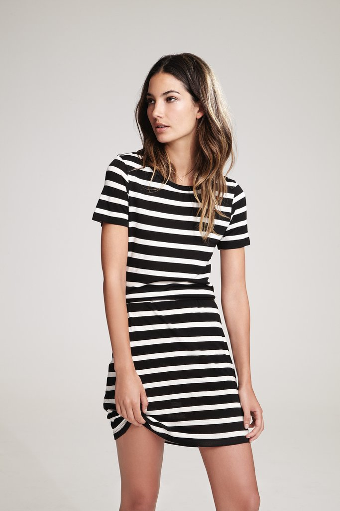 Lily Aldridge For Velvet Anna Stripe T-Shirt Dress ($108) Source: Courtesy of Velvet
