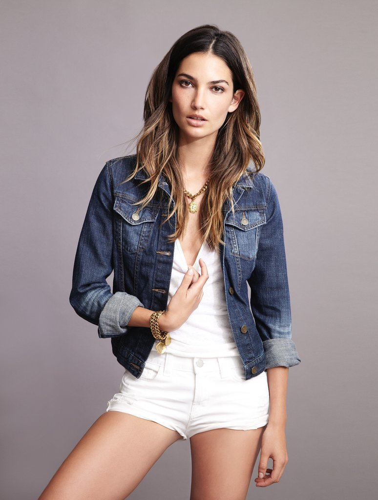 Lily Aldridge For Velvet Ash Denim Jacket ($178) Source: Courtesy of Velvet