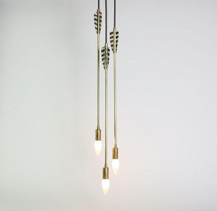 Unlike any lighting fixture we've ever seen, this arrow pendant ($975) is an unbelievable Etsy find. Choose to hang as a cluster or individually, but rest assured this fixture will make a statement.
